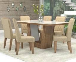 Conjunto De Mesa Para Sala De Jantar Condessa Vidro Branco Com 6 Cadeiras Ebano/Gold
