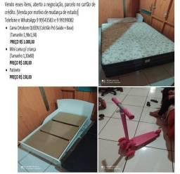 Vendo Cama box Queen Ortobom Pró Saude + Mini cama + Patinete Parcelo no cartão de credito
