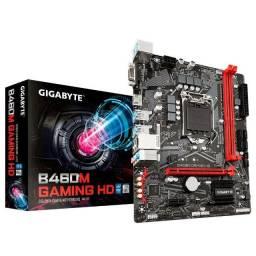 Placa Mãe Gigabyte B460M Gaming HD lga 1200 DDR4 MATX - Nova