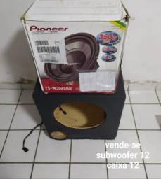 Vende-se subwoofer 12 e caixa 12 nos preços