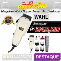 Maquina De Corte Wahl Super Taper Branca Profissional Americana made in USA -110v Promoção