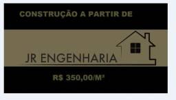Jr engenharia construção a partir de r$ 350,00 o metro quadrado