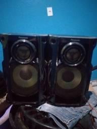 Duas caixas de som Panasonic