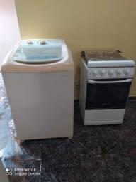 Máquina de lavar e fogão 450.00