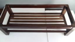 Mesa de Centro Antiga Madeira de Lei Canela Preta Rara
