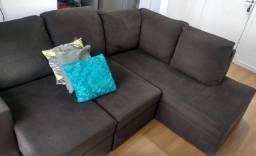 Sofá de canto, retrátil e reclinável - 4 lugares