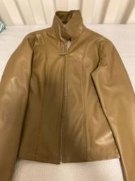 Jaqueta de couro sintética