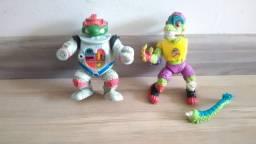 2 bonecos antigos tartarugas ninja