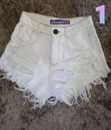 Short Jeans Branco. N° 38