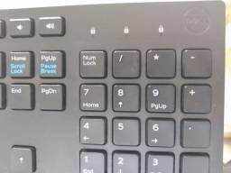 Teclado e Mouse Wireless Dell, Preto