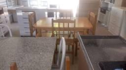 Mesa de Madeira 1,20 com 4 cadeiras (pinus) Novos muito barato