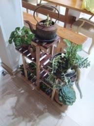 Mini estante para plantas e objetos