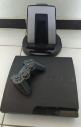 PS3 Slim Zerado Desbloqueado Com Suporte Mais Jogos..