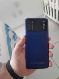 VENDO Poco M3 4/128gb Azul Leiam o Anúncio