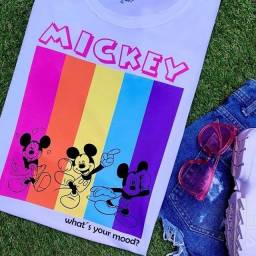Blusa tshirt feminina adulto e infantil