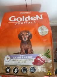Vendo Ração Golden Carne e Arroz filhote porte pequeno 3 kg