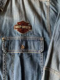 Camisa jeans Harley Davidson