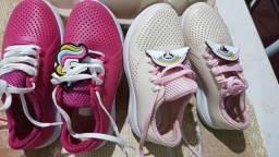 Vendo tenis/sandálias n 28 TUDO 100 reais pouquíssimo usado aceito cartao seminovo