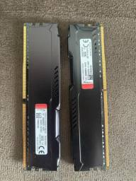 2x memoria hyperx 8gb ddr4 (total 16gb)