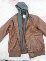 Vendo jaqueta de couro nova
