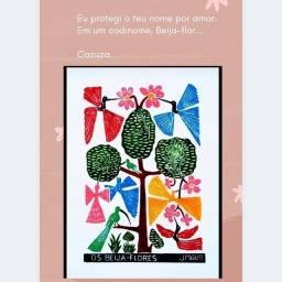 Xilogravura os Beija-Flores