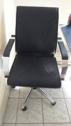 Cadeira escritorio couro legítimo EXECUTIVA NOVA