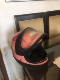 Capacete taurus rosa