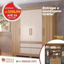 Guarda Roupa Casal 4 portas, 4 Gavetas Promoção de R$1298.99 por apenas R$1199.99 ?
