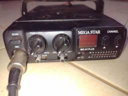 Rádio Px Megastar MG 32 Plus com antena