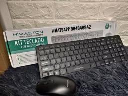 Mouse e Teclado sem fio H`Maston