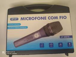 Microfone Knup com fio profissional conector 3 pin XLR