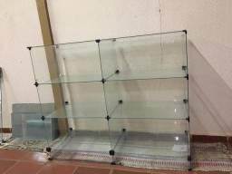 Prateleira de vidro modular