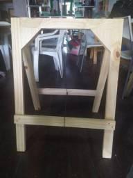 Cavalete de madeira - Par