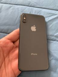 Vendo iPhone X/256gb preto estado impecável