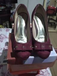 Sapato vinho Beira Rio confort semi novo