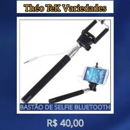 Bastão Pau De Selfie Monopod C/ Bluetooth Preto