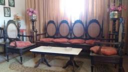 Conj. sofá e mesa de centro em Jacaranda