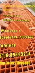 Tijolos direto de fábrica, tijolos 8 furos em carradas