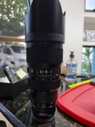 Lente Sigma 50-100mm 1.8, com adaptador para sony C + filtro Zomei