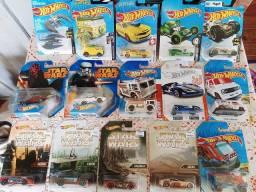 Hot Wheels incrível com várias raridades 15 miniaturas lacradas!