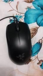 Mouse razer e teclado mecânico switch BLUE