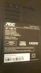 1 TV 43 p obs tela quebrada a frontal