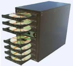 Torre copiadora de dvd / cd  com 7 gravadores