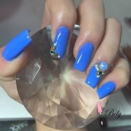 Fibra de vidro + pedicure GRÁTIS
