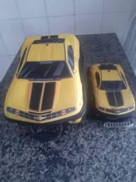 Kit Mochila e lancheira 3D Camaro amarelo