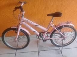 Bicicleta Média Caloi Poti Rosa