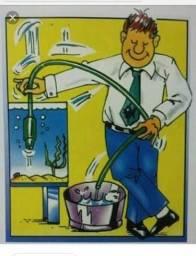 Manutenção limpeza lavar aquários