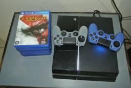 PS4 completo 2 controles, 9 jogos