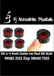 Kit com 4 Knobs para Guitarra Les Paul