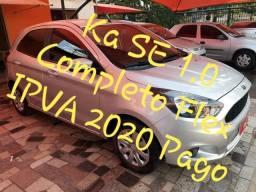 Ka SE 1.0 Completo Flex 2017 IPVA 2020 Pago - 2017